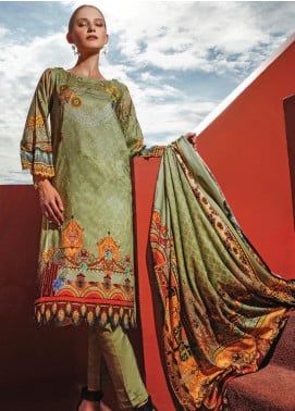 Ittehad Textiles Printed Linen Unstitched 3 Piece Suit ITD19L 17 - Fall Collection