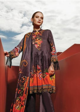 Ittehad Textiles Printed Linen Unstitched 3 Piece Suit ITD19L 18 - Fall Collection