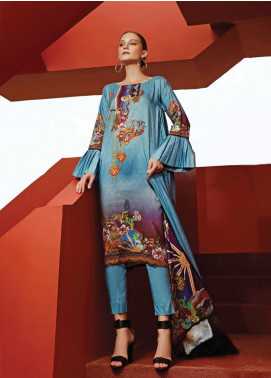 Ittehad Textiles Printed Linen Unstitched 3 Piece Suit ITD19L 19 - Fall Collection