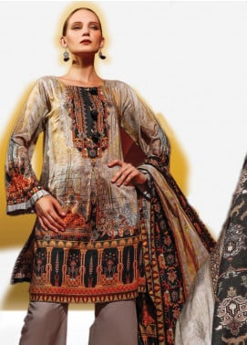 Ittehad Textiles Printed Linen Unstitched 3 Piece Suit ITD19L 2 - Fall Collection