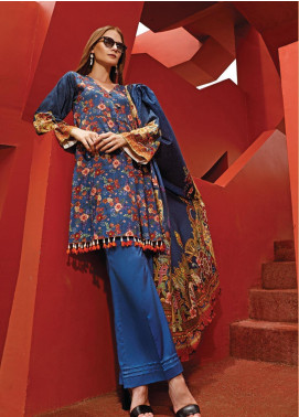 Ittehad Textiles Printed Linen Unstitched 3 Piece Suit ITD19L 5 - Fall Collection