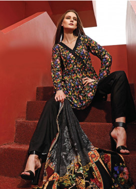 Ittehad Textiles Printed Linen Unstitched 3 Piece Suit ITD19L 6 - Fall Collection