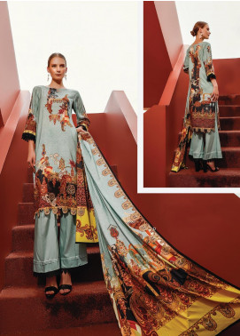 Ittehad Textiles Printed Linen Unstitched 3 Piece Suit ITD19L 7 - Fall Collection