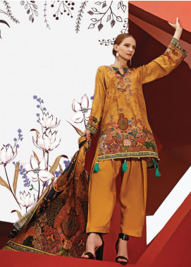 Ittehad Textiles Printed Linen Unstitched 3 Piece Suit ITD19L 8 - Fall Collection