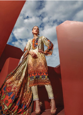 Ittehad Textiles Printed Linen Unstitched 3 Piece Suit ITD19L 9 - Fall Collection