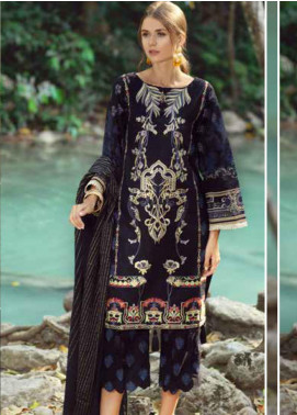 Ittehad Textiles Embroidered Lawn Unstitched 3 Piece Suit ITE20SL BLACK FIRE - Summer Collection