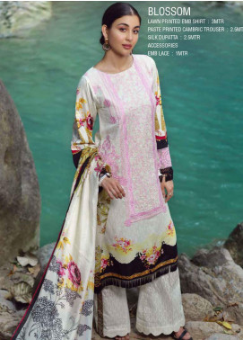 Ittehad Textiles Embroidered Lawn Unstitched 3 Piece Suit ITE20SL BLOSSOM - Summer Collection