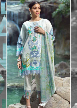 Ittehad Textiles Embroidered Lawn Unstitched 3 Piece Suit ITE20SL BLUE MIST - Summer Collection