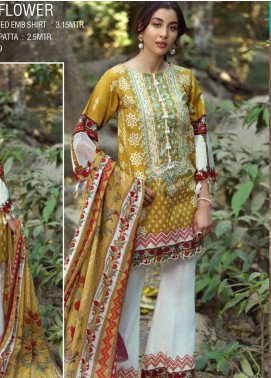 Ittehad Textiles Embroidered Lawn Unstitched 2 Piece Suit ITE20SL FOLK FLOWER - Summer Collection