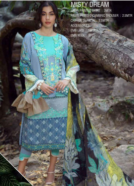 Ittehad Textiles Embroidered Lawn Unstitched 3 Piece Suit ITE20SL MISTY DREAM - Summer Collection