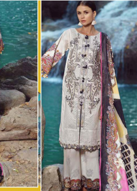 Ittehad Textiles Embroidered Lawn Unstitched 3 Piece Suit ITE20SL MONOCHROME AFFAIR - Summer Collection