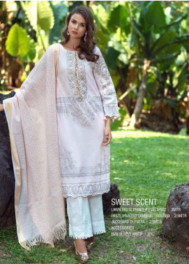 Ittehad Textiles Embroidered Lawn Unstitched 3 Piece Suit ITE20SL SWEET SCENT - Summer Collection