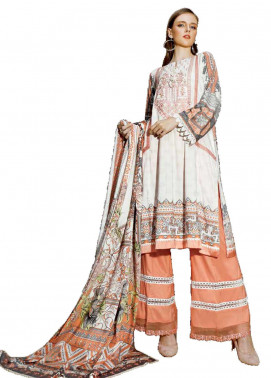Ittehad Textiles Embroidered Linen Unstitched 3 Piece Suit ITD19EW MELLOW BUFF - Winter Collection