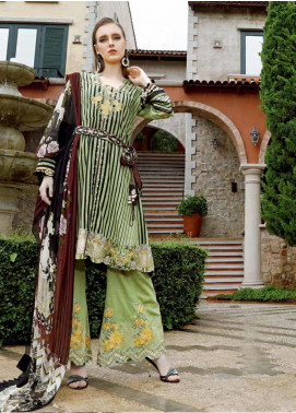 Ittehad Textiles Embroidered Khaddar Unstitched 3 Piece Suit ITD19EW PASTEL GREEN - Winter Collection