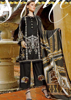 Ittehad Textiles Embroidered Linen Unstitched 3 Piece Suit ITD19EW RAVEN - Winter Collection