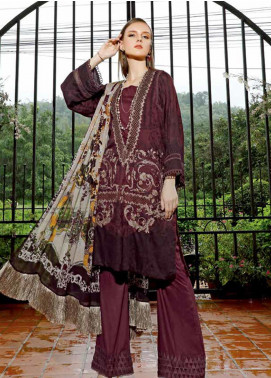 Ittehad Textiles Embroidered Linen Unstitched 3 Piece Suit ITD19EW RUBY WINE - Winter Collection