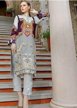 Ittehad Textiles Embroidered Khaddar Unstitched 2 Piece Suit ITD19EW SILVER CLOUD - Winter Collection