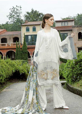 Ittehad Textiles Embroidered Linen Unstitched 3 Piece Suit ITD19EW WINTER WHITE - Winter Collection