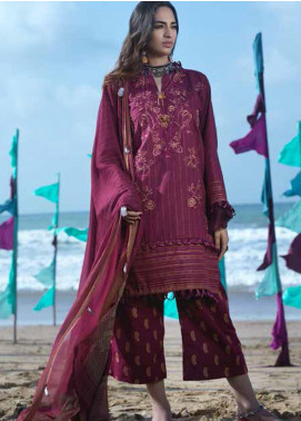 Ittehad Textiles Embroidered Khaddar Unstitched 3 Piece Suit ITD20FW 06 RUBY MUSK - Winter Collection