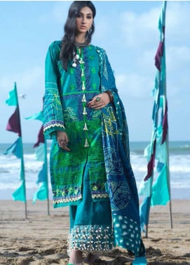 Ittehad Textiles Embroidered Khaddar Unstitched 3 Piece Suit ITD20FW 07 DUSK GREEN - Winter Collection