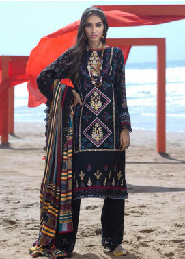 Ittehad Textiles Embroidered Khaddar Unstitched 3 Piece Suit ITD20FW 13 MOZEK - Winter Collection