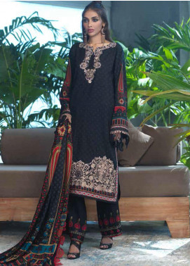 Ittehad Textiles Embroidered Linen Unstitched 3 Piece Suit ITD20FW 23 AZTEC SHADOW - Winter Collection