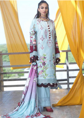 Ittehad Textiles Embroidered Linen Unstitched 3 Piece Suit ITD20FW 30 AQUA HAZE - Winter Collection