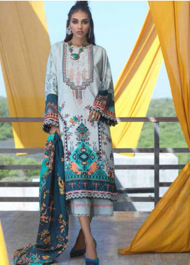 Ittehad Textiles Embroidered Linen Unstitched 3 Piece Suit ITD20FW 31 MINT MELODY - Winter Collection