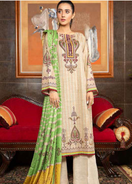 Ittehad Textiles Printed Khaddar Unstitched 3 Piece Suit ITD20KD 4501-B - Winter Collection