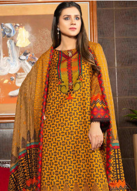 Ittehad Textiles Printed Khaddar Unstitched 3 Piece Suit ITD20KD 4502-A - Winter Collection