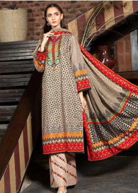 Ittehad Textiles Printed Khaddar Unstitched 3 Piece Suit ITD20KD 4502-B - Winter Collection