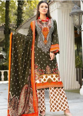 Ittehad Textiles Printed Khaddar Unstitched 3 Piece Suit ITD20KD 4504-B - Winter Collection