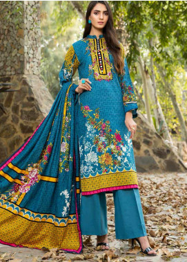 Ittehad Textiles Printed Khaddar Unstitched 3 Piece Suit ITD20KD 4505-A - Winter Collection