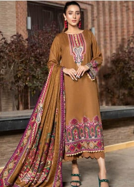 Ittehad Textiles Printed Khaddar Unstitched 3 Piece Suit ITD20KD 4506-A - Winter Collection