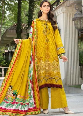 Ittehad Textiles Printed Khaddar Unstitched 3 Piece Suit ITD20KD 4507-A - Winter Collection
