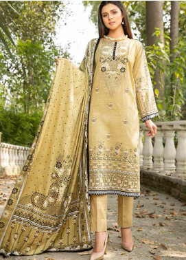 Ittehad Textiles Printed Khaddar Unstitched 3 Piece Suit ITD20KD 4512-B - Winter Collection