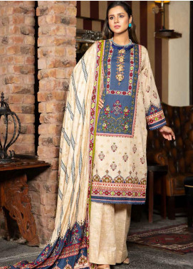 Ittehad Textiles Printed Khaddar Unstitched 3 Piece Suit ITD20KD 4513-A - Winter Collection