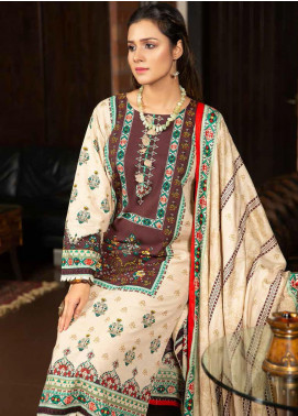 Ittehad Textiles Printed Khaddar Unstitched 3 Piece Suit ITD20KD 4513-B - Winter Collection