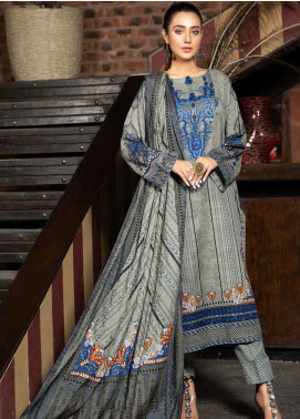 Ittehad Textiles Printed Khaddar Unstitched 3 Piece Suit ITD20KD 4514-B - Winter Collection