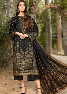 Ittehad Textiles Printed Khaddar Unstitched 3 Piece Suit ITD20KD 4515-A - Winter Collection