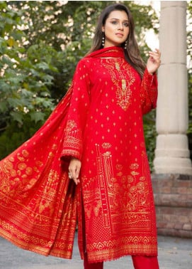 Ittehad Textiles Printed Khaddar Unstitched 3 Piece Suit ITD20KD 4515-B - Winter Collection