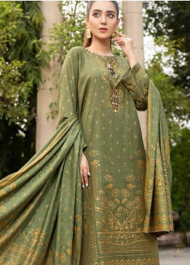 Ittehad Textiles Printed Khaddar Unstitched 3 Piece Suit ITD20KD 4515-C - Winter Collection