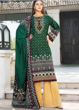 Ittehad Textiles Printed Khaddar Unstitched 3 Piece Suit ITD20KD 4516-A - Winter Collection