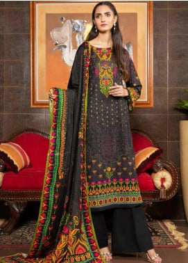 Ittehad Textiles Printed Khaddar Unstitched 3 Piece Suit ITD20KD 4517-A - Winter Collection