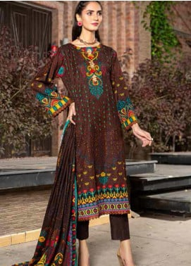 Ittehad Textiles Printed Khaddar Unstitched 3 Piece Suit ITD20KD 4517-B - Winter Collection
