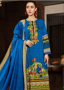 Ittehad Textiles Printed Khaddar Unstitched 3 Piece Suit ITD20KD 4518-A - Winter Collection