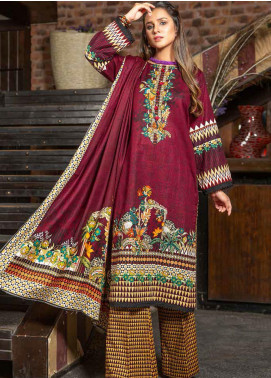 Ittehad Textiles Printed Khaddar Unstitched 3 Piece Suit ITD20KD 4518-B - Winter Collection
