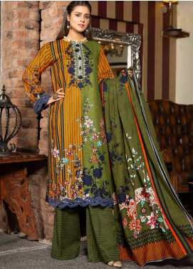 Ittehad Textiles Printed Khaddar Unstitched 3 Piece Suit ITD20KD 4519-B - Winter Collection