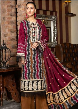 Ittehad Textiles Printed Khaddar Unstitched 3 Piece Suit ITD20KD 4520-A - Winter Collection