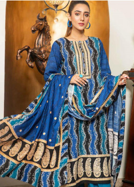 Ittehad Textiles Printed Khaddar Unstitched 3 Piece Suit ITD20KD 4520-B - Winter Collection